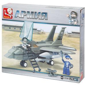 Конструктор  Армия: Самолёт F-15, 142 детали Sluban. Цвет: разноцветный