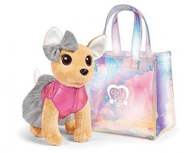 Мягкая игрушка  Плюшевая собачка в прозрачной сумочке 20 см Chi-Chi Love
