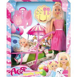 Набор кукол  Семья Ася с малышкой, 28 см Toys Lab. Цвет: розовый