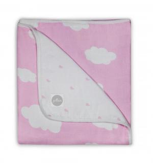 Одеяло Clouds 120 х см, цвет: розовый Jollein