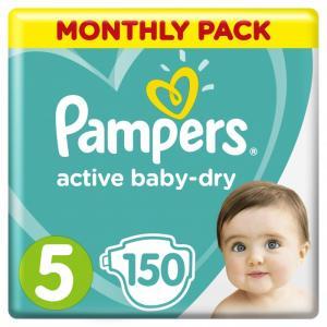 Подгузники Active Baby-Dry р.5 (11-16 кг) 150 шт. Pampers