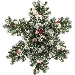 Украшение  Снежинка, с освещением Царь-Елка. Цвет: зеленый