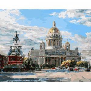 Живопись на подрамнике  Исаакиевская площадь Белоснежка