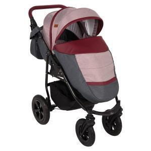 Прогулочная коляска  Panda NEW, цвет: темно-серый/бордовый Prampol