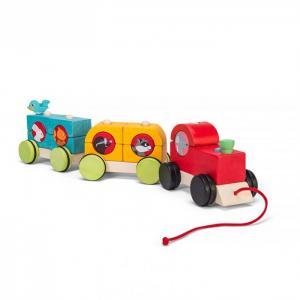 Каталка-игрушка  Поезд Лесной экспресс LeToyVan