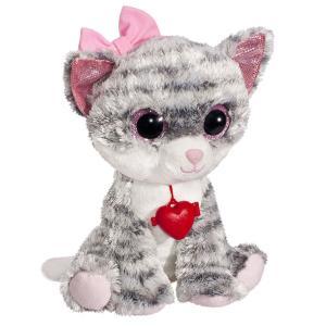 Мягкая игрушка  Глазастик Кошечка 24 см цвет: серый Fancy