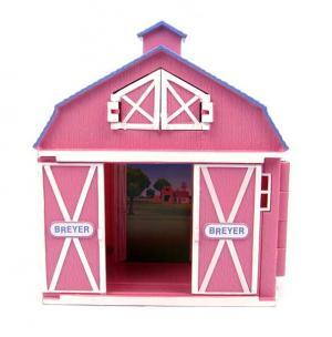 Конюшня маленькая розовая Breyer