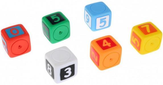 Игрушки для купания Кубики с цифрами Играем вместе