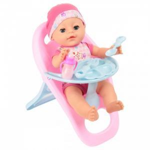 Кукла-Пупсик в одежде со стульчиком для кормления 35 см Lisa Jane