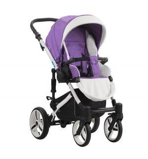 Прогулочная коляска  Loydi, цвет: фиолетовый/белый Aroteam