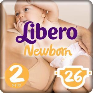 Подгузники  Newborn 2 (3-6 кг) 26 шт. Libero
