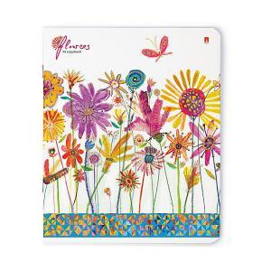 Тетрадь Цветы. Счастье 48 листов, клетка, 5 шт., рисунок в ассортименте Альт