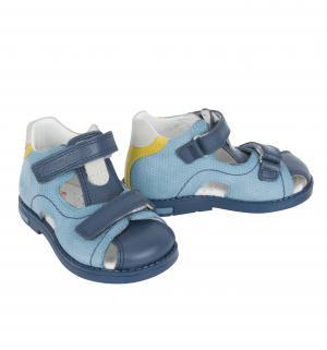 Сандалии , цвет: голубой Dandino