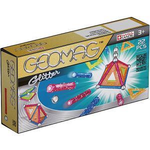 Магнитный конструктор  Glitter, 22 детали Geomag. Цвет: светло-зеленый