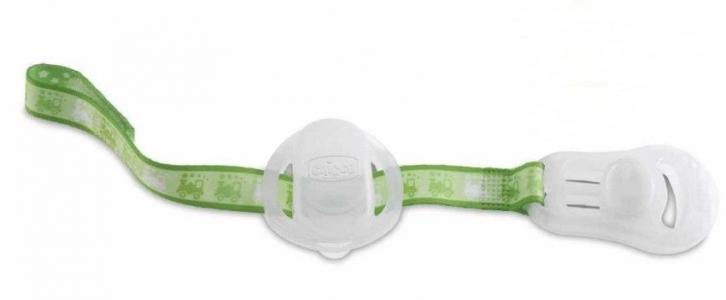 Клипса-держатель  для пустышки, цвет: зеленый Chicco