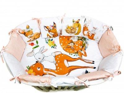 Комплект в кроватку  Детская история Оленята (4 предмета) Сонная сказка