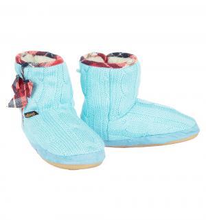 Сапожки домашние , цвет: голубой Tingo