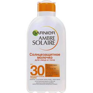 Солнцезащитное молочко для лица и тела  Ambre Solaire SPF 30, 200 мл Garnier