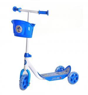 Самокат  Кроха с корзиной, цвет: синий Moby Kids