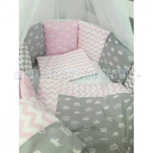 Комплект в кроватку  Короны (7 предметов) для круглой кровати ByTwinz