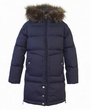 Пальто для девочек navy цвет синий Dakottakids