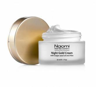 Ночной золотой крем с маслом косточек винограда и алоэ 50 мл Naomi