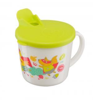 Кружка  Training cup для кормления, с 8 мес, цвет: салатовый Happy Baby