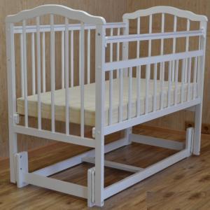 Детская кроватка Malika Melisa-3 (продольный маятник) Массив