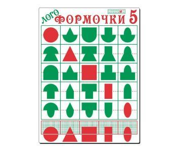Деревянная игрушка  Логоформочки 5 Игры Воскобовича