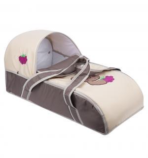 Люлька-переноска для ребенка  Мишка, цвет: бежевый/коричневый Slaro