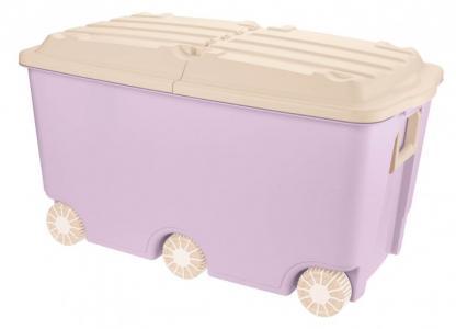 Ящик для игрушек на колесах 66.5 л 68,5*39,5*38,5 мм Пластишка