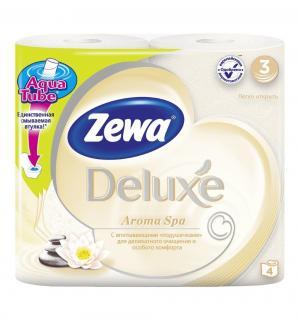 Туалетная бумага 3-х слойная аромаспа  Deluxe, 4 шт Zewa
