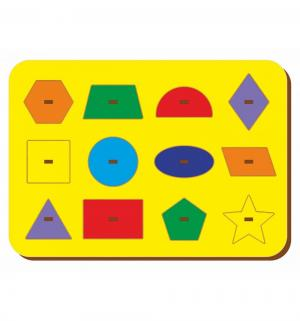 Рамка-вкладыш  Монтессори геометрия 1 Woodland
