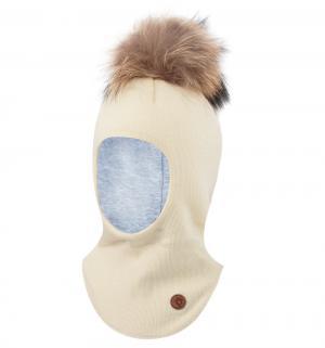 Шапка-шлем  Venla, цвет: белый Nels