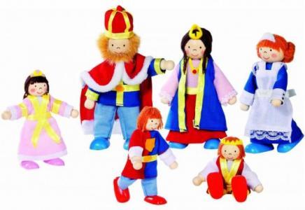 Куклы Семья царская 6 в 1 Goki