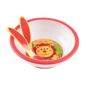 Набор посуды  Тарелка глубокая с вилкой и ложкой Ням-Ням