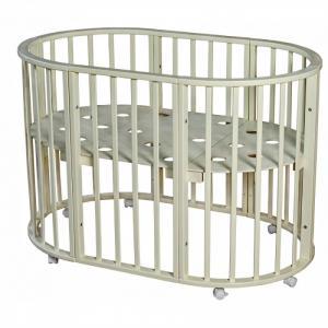 Кроватка-трансформер  Мой малыш круглая-овальная Николь Ивашка