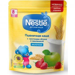 Каша  молочная пшеничная с земляникой и яблоком 8 месяцев 220 г Nestle