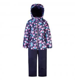 Комплект куртка/полукомбинезон , цвет: синий/розовый Gusti