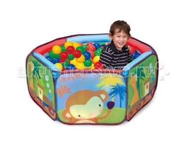 Игровая палатка с шарами Приключение зверят Calida
