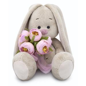 Мягкая игрушка  Город Зайка Ми с букетом роз 18 см Budi Basa