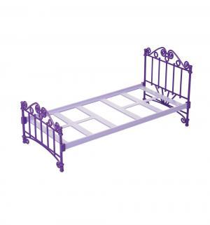 Мебель для кукол  Кроватка фиолетовая Огонек