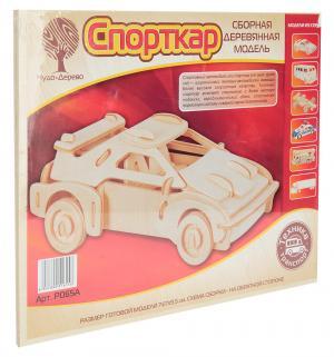 Деревянный конструктор  Спорткар малый Wooden Toys