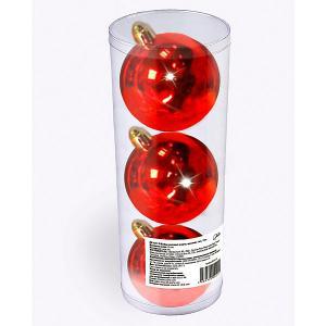 Набор елочных шаров  3 шт, 9 см., красные B&H. Цвет: разноцветный
