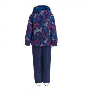 Комплект куртка/брюки  Бабочки Вуда, цвет: синий Premont