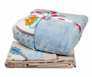 Комплект в кроватку  с покрывалом BamBam (5 предметов) Hobby Home Collection