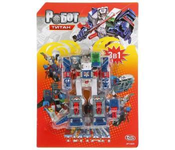 Робот-трансформер Титан 3 в 1 с аксессуарами 33 см Play Smart