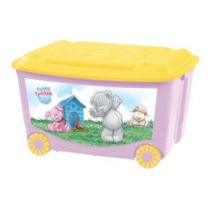 Ящик для игрушек  Me to You, цвет: розовый Бытпласт