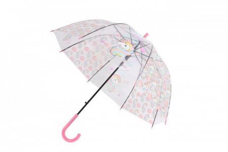 Зонт  прозрачный Единорог Bradex