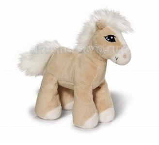 Мягкая игрушка  Лошадка Даймонд бежевая стоячая 15 см Nici